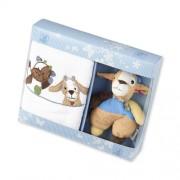 Geschenkset Ziege Zottel Wieslinge Kinderhandtuch + Mini Rasseltier STERNTALER 9701843