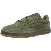 Reebok Men's Club C 85 TG Fashion Sneaker, Hunter Green/Poplar Green-Gum, 11 M US