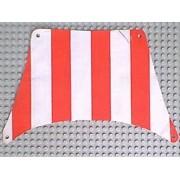 sailbb04-1G Zeil 27x17 Rode dikke strepen (top) Wit gebruikt loc
