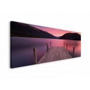 Pomost Zachód Słońca - obraz na płótnie