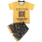 Kids Clothes Boys Yellow Military Style