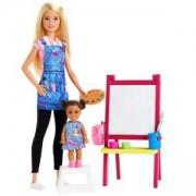 Кукла Barbie - Игрален комплект Учител по рисуване, 1710175