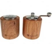 Set solnita si rasnita pentru sare si piper Kassel 93575, lemn de salcam, mecanism ceramica