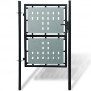 vidaXL Black Single Door Fence Gate 100 x 250 cm