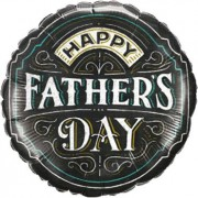 """Qualatex """"Father's Day Chalkboard Foil Round 18in/45cm"""""""