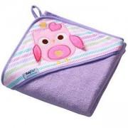 Бебешка хавлия с качулка и гъба за баня TERRY - лилава, 142 01 BabyOno, 5901435406908