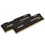 KINGSTON HX426C15FBK2/8 - 8GB 2666MHZ DDR4 CL15 DIMM (2X4GB) HX FURY NERO