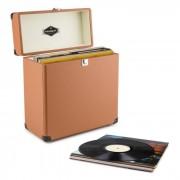 TTS6 Record Case Valigetta Porta Dischi Pelle Nostalgia 30 LPs marrone