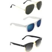 Zyaden Aviator, Wayfarer, Clubmaster Sunglasses(Black, Multicolor, Black)