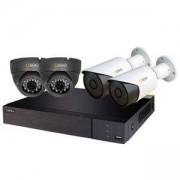 Комплект за видеонаблюдение Q-See 2 бр. вътрешни + 2 бр. външни AHD камери, 1080P + 4-канален DVR видеорекордер, QTH94-4K2