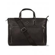 J.Lindeberg S-Bag 50005 Mix Leather Briefcase Black