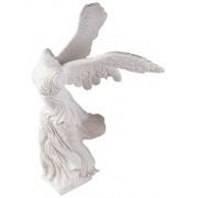 Design Toscano PD1902 Nike of Samothrace 190 BCE Estatua de mármol con alas, Blanco, De Escritorio, 1
