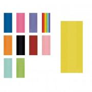 Liragram Bolsa de plástico de colores con cierre de 12,7 x 29,2 x 7,6 cm - 25 unidades - Color Multicolor