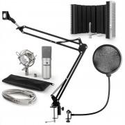 Auna MIC-900S USB, микрофонен комплект V5, кондензаторен микрофон, pop filter, стойка за микрофон, параван (60001967-V5)