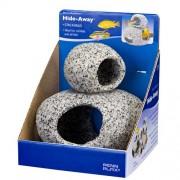 PENN PLAX Kamenný úkryt Žula 2ks Small 5cm & Medium 7,7cm