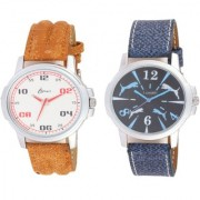 I smart Brand Smart Look Leather Watch 2 - 9 for Men combo watches Watch - For Men
