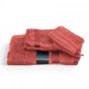 Linnea Parure de bain 5 pièces ROYAL CRESENT Rouge Terre Cuite 650 g/m2
