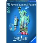 Puzzle contur Statuia Libertatii, 1000 piese Ravensburger