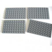 LEGO City - 4 plates, 6 x 12 studs, in new dark grey - 3028