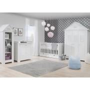 Patut bebe Marsylia alb pentru saltea 60x120 cm Pinio