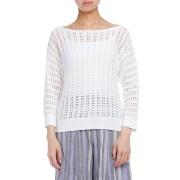 【70%OFF】BOOMERANG 透かし編み ニットトップ ホワイト xs ファッション > レディースウエア~~その他トップス