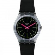 Reloj Swatch Fluo Loopy Gm189 - Negro