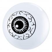 """Baloane latex 5"""" inscriptionate Eyeball TopPrint White, Qualatex 84895"""
