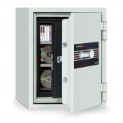Seif antifoc pentru protejarea informatiilor pe suport magnetic, inchidere cu cheie, 070SDBK, 695 x 500 x 500 mm