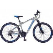 Bicicleta MTB-HT 26 inch CARPAT Galaxy C2693B cadru aluminiu frane mecanice disc transmisie Shimano 21 viteze culoare gri-albastru