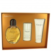 Calvin Klein Obsession EDT Spray 4 oz / 118 mL + After Shave Balm 3.4 oz / 100 mL + Deodorant Stick 2.3 oz / 68 mL 400037