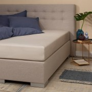 Presence Jersey Hoeslaken - Silver - Zand - Zand - Size: 160 x 200