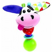 Musical Activity Rattles - Motion Activated Cow Rattle With Multiple Textures And Sounds