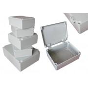 Aluminium kötődoboz, nyitható fedél 350x190x90 IP67 (ALUBOX-522H)