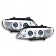 FK-Automotive fari Daylight CCFL allo xeno BMW X5 E53 anno di costruzione 03-06 cromato