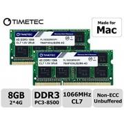 Timetec Hynix IC Apple de 8 GB Kit (2 x 4GB) DDR3 PC3 - 8500 1066 mhz, Actualización de memoria para iMac de 54.6 cm/27 inch/50.8 cm/24 inch, MacBook Pro 13 inch/15 inch/17 inch, Mac Mini 2009 2010 (8 GB Kit (2 x 4GB))