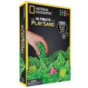 Детски пясък за моделиране, кинетичен, несъхнещ National Geographic - зелен, 900 грама, National Geographic Toys