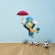 EJA Art Jiminy Cricket Wall Sticker (Material - PVC) (Pec - 1) With Free Set of 12 pec butterflies sticker
