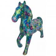 Pomme Pidou Spaarpot paard 21 cm bloemetjes - Action products