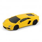 Autodrive Lamborghini Aventador Sports Car USB Memory Stick 8 GB - Gelb