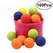 TOYMYTOY 100Pcs Bouncy Balls Bulk Foam Bullet Ball Replacement Refill Pack for Nerf Rival Zeus/Apollo/Khaos/Atlas/Artemis Blasters