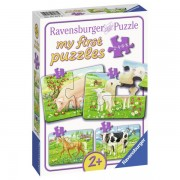 Puzzle Animale Ferma, 2/4/6/8 Piese