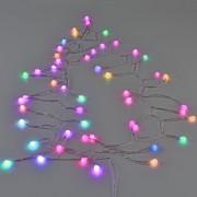 Коледна светлинна украса, LED осветление, тип низ от цветни топки [in.tec]®, 12,8m