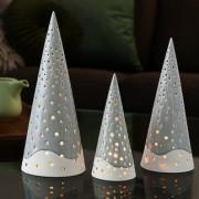 Nobili Teelichtleuchter, Set aus allen 3 Grössen