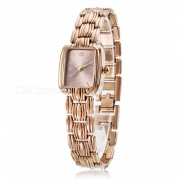 Chaoyada 1129 Reloj elegante de cuarzo de pulsera de mujer-chaman oro