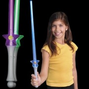Light Up Star Power Saber with Color Changing LED Lights (Set of 3)