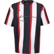 Karl Kani Signature Stripe Herren T-Shirt blau weiß gestreift Gr. S