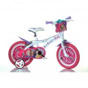 "Dino Bikes Bicicleta Barbie Niñas 16"" Acero Rosa Blanco Bicicleta"