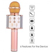 WS-858 Bluetooth Microphone Recording Condenser Copper Microphone Stand with Bluetooth Speaker Audio Recording for Cellphone