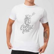 Native Shore Choose Love Men's T-Shirt - White - XL - White