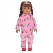 Alcoa Prime Pink Flower Girls Pajamas Sleepwear for 18 inch American Girl Doll Accessory